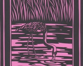 Flamingo Paper Cut Out- Reserved for bubbafaucet