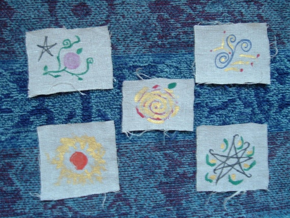 A Set of Five Faerie Badges
