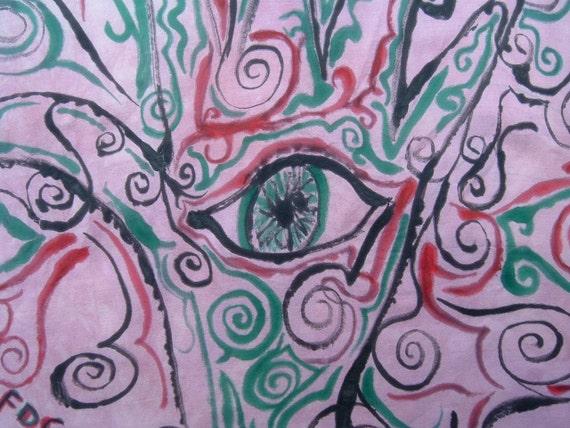 Eye of Fatima Altar Cloth Hand-Painted