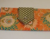 Shop Closing Feb 15 Clearance - was 30 - Perfect Gift for Mom - Bi-fold Wallet in Patricia Bravo and Amy Butler Color Splash