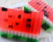 Soap - Juicy Watermelon Soap -  Glycerin Soap - Handmade Soap
