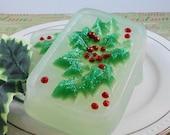 Soap - A Holly Daze Christmas Soap - Glycerin Soap - Holiday Soap - SoapGarden