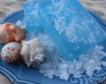 Soap - Waterfall Mist Sea Salt  Soap - Glycerin Soap - Handmade Soap - Dead Sea Salt - SoapGarden
