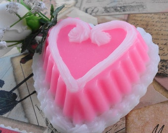 Soap - I Heart U Soap Made With Shea Butter - Glycerin - Wedding Favor - Valentine's Day - SoapGarden