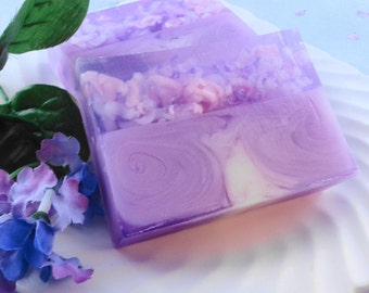 Soap - Country Fresh Lilac  Soap Made with Goats Milk - Glycerin Soap - Handmade Soap  - Spring - SoapGarden