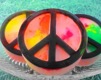 Soap - Tie- Dyed Peace Symbol Soap - All Natural Glycerin Soap - Handcrafted Soap - Hippie Love - SoapGarden