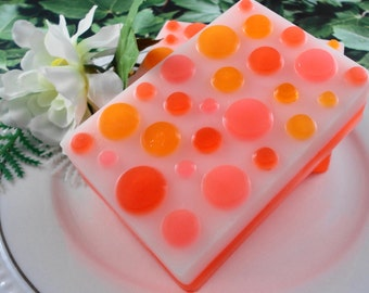 Soap - Tangerine Dream Soap made with Goats Milk - Glycerin Soap - Handmade Soap - SoapGarden