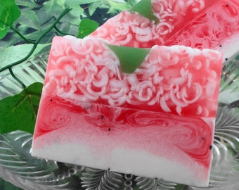Soap - Strawberries and Cream Soap made with Shea Butter - Glycerin Soap - Handmade Soap - Spring Soap - SoapGarden