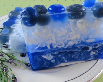 Soap - Blueberry Soap - Glycerin Soap - Handmade Soap - SoapGarden