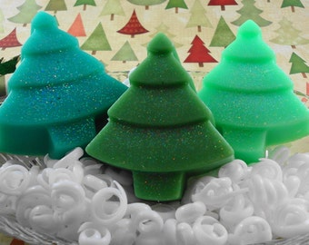 Oh Christmas Trees  Made With Goat's Milk Soap -  Holiday Soap - Guest Soap - Christmas Soap - Forest of Trees -  SoapGarden