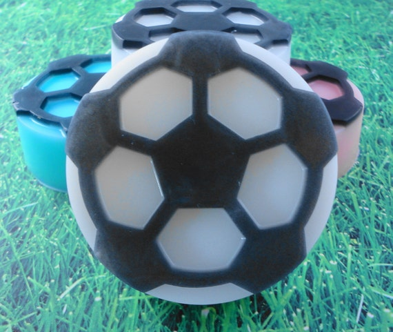 Soap - Kicking It in the Grass Soap made with Goats Milk -Glycerin Soap - Handmade Soap - Soccer Soap - SoapGarden