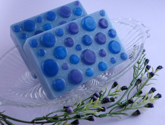 Soap - Blueberry  Bliss Soap made with Goats Milk - Glycerin Soap - Handmade Soap - SoapGarden