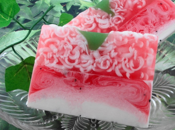 Soap - Strawberries and Cream Soap made with Shea Butter - Glycerin Soap - Handmade Soap - SoapGarden