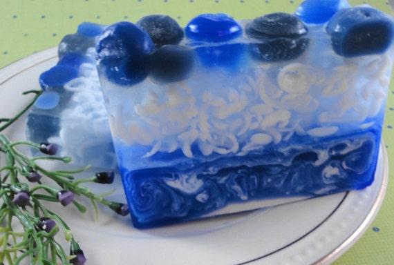 Soap - Blueberry Soap - Glycerin Soap - Handmade Soap - SoapGarden