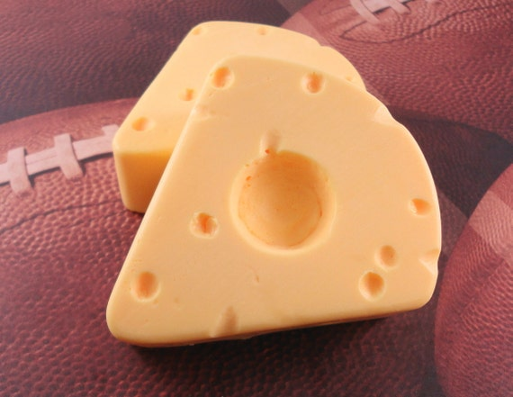 Soap - Cheese Head Hat Soap - Glycerin Soap - Party Favor - Wisconsin Cheese - Packers - SoapGarden