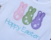 SAMPLE SALE.  Ready to Ship Hoppy Easter 18 month Onesie