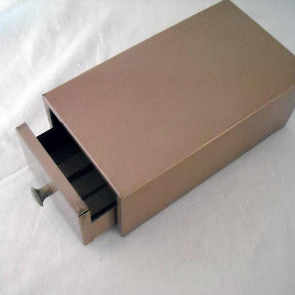 Original Oak Vintage Office Storage Box Paper Holder File Storage