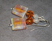 Topaz/Square Sparkle-- Designs By Camaya-  Earring Collection
