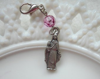 Saint Clare of Assisi Clip/Rosary Place Marker