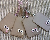 Owl Tags - Set of Four
