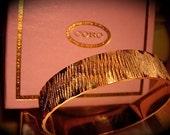 DeadStock Vintage 50s CORO Gold Bangle Bracelet in original box -on sale-