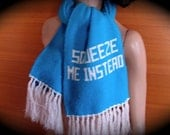 Vintage Scarf  Squeeze Me Instead Winter Muffler - on sale