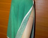 Le Vintage 60s Reversible Floral and DOT Green Wrap Skirt  S M L -on sale