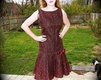 Vintage Dress 50s does 20s Flapper Wiggle Party Dress M LG - on sale