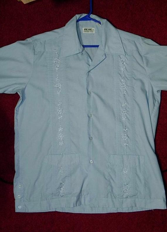 Vintage Mexican Hot Rod rockabilly Cabana Shirt LG XL -on sale-