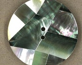 Black Round Mosaic Mother of Pearl Button