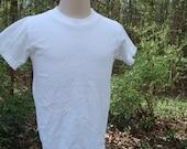 Vintage sz 6  Kids t shirts  plain white, blank, prepared for dye, pfd, vintage tee