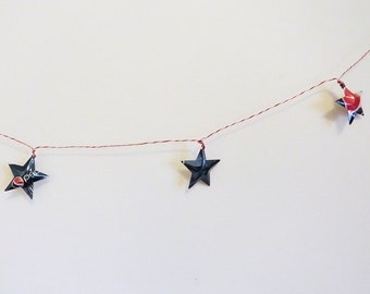 Pepsi Stars Soda Can Upcycled Pepsi Cola GARLAND Red White and Blue