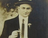 A Suave Man with a Cigar-Large Cabinet Type Photo- Brooklyn, New York