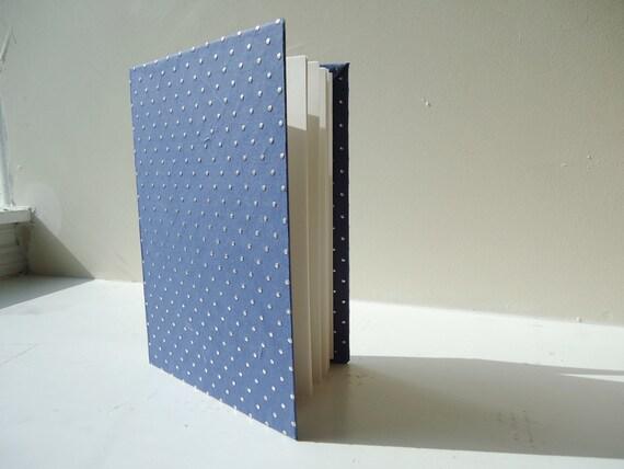 Blue and Silver Polka Dot Book