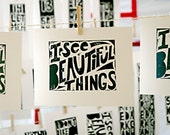 Letterpress Typography Art Beautiful Things Folk Art