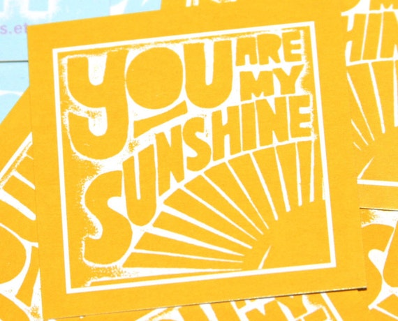 You are My Sunshine Tiny Prints Cards Good Morning Aloha Love