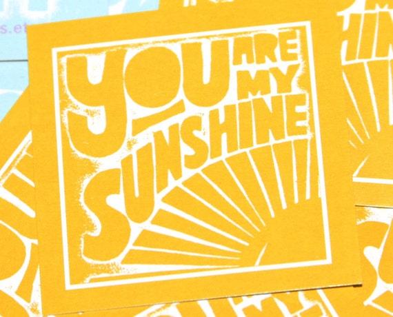 You are My Sunshine Tiny Prints Cards Good Morning Aloha Love