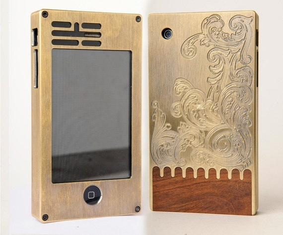 exo2 solid brass engraved iPhone case