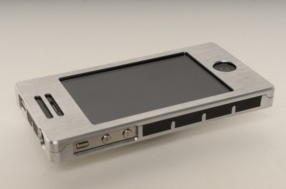 iPhone 4 or 4S EXO5 Case in Silver Aluminum