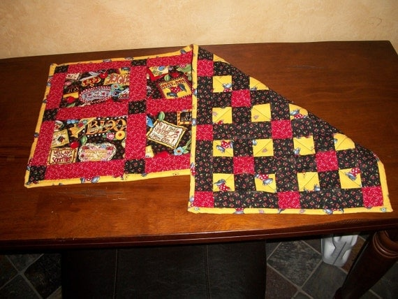 Reversible Scotty Dog Table Runner