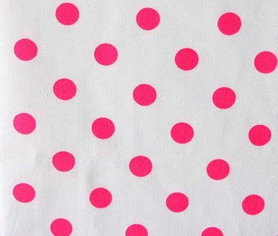 fabric destash pink polka dots on white cotton. Black Bedroom Furniture Sets. Home Design Ideas