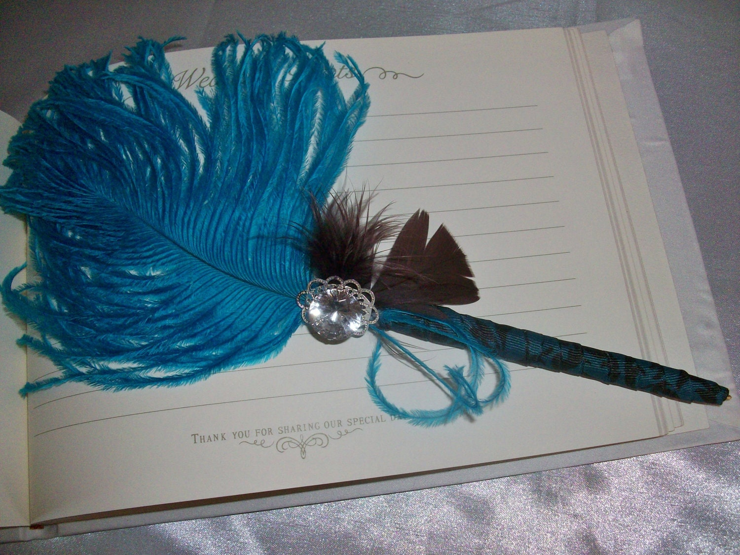 Brown And Teal Wedding Ideas: Turquoise / Teal And Brown Wedding Guesbook By