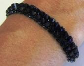 Navy Blue Swarovski Crystal Tennis Bracelet