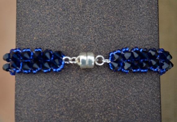Sapphire Swarovski Crystal Tennis Bracelet