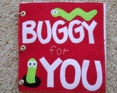 RESERVED for ALLYSON -Made to Order-Felt Quiet Book- Buggy for You-Babies-Toddlers-Choose Your Color-Order Early to Avoid Holiday Rush