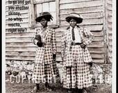 Coffee Run Question - 4 x 6 inch Postcard - African American Women Working Series