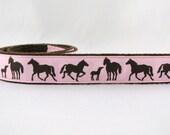 Three Styles Sookie Wrap Childrens Belt Horses in Pink