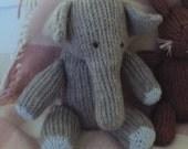 Download Now - Knit-Look Crocheted Elephant - Crochet Pattern PDF