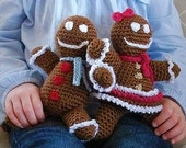 SALE - Download Now - Gingerbread Boy and Girl Amigurumi -  Crochet Pattern PDF