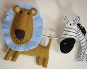 Bunting African Animals - brown and blue